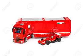 100 Ferrari Truck Tambov Russian Federation June 27 2015 Lego F14 T And Scuderia