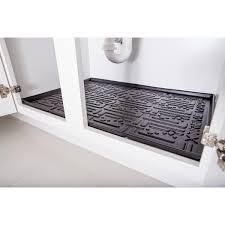 Sink Protector Mat Uk by Kitchen Under Sink Cabinet Mats Black Or Beige Xtreme Mats
