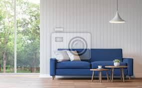 fototapete moderne weiße wohnzimmer vintage stil 3d rendering image there