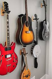 This Guitar Wall Is An Example Of A Simple And Functional Way To Display Instruments