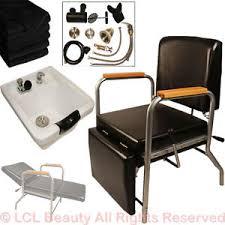 white ceramic shoo bowl sink shoo chair leg rest barber