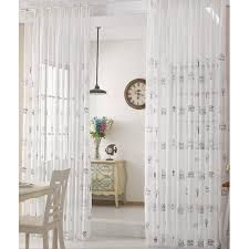 White House Cute Tall Dining Room Sheer Curtains Comey