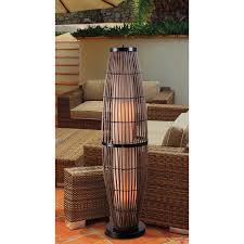 Kenroy Home RAT Biscayne Outdoor Floor Lamp Rattan Finish