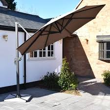 100 Cantilever Home Mayfair 3m Parasol With Granite Base Taupe