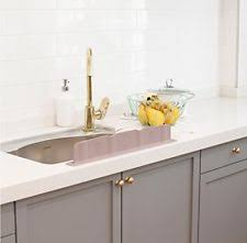 mia home silicon kitchen sink water splash guard 10 colors grey ebay