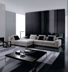 black living room interior design