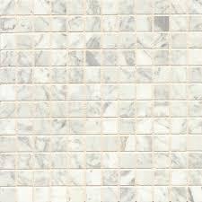 white carrara marble mosaic polished tiles box of 10 sheets