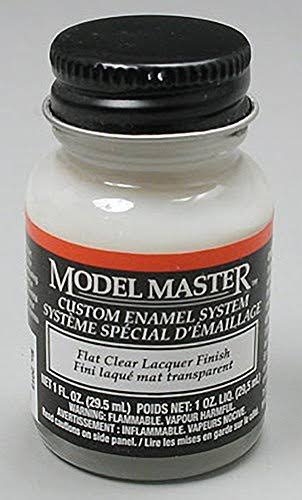 Model Master 2015 Lacquer Paint Bottle - Flat Clear Finish, 1oz