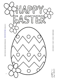 Easter Coloring Page 6 Happy Egg