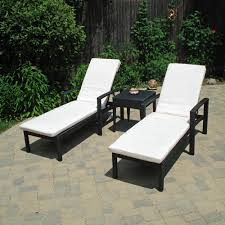 appealing patio chaise lounge design with black metal wicker