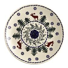 Tuscan Decorative Wall Plates by Amazon Com Polish Pottery Christmas Tree Reindeer Moose Salad