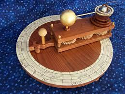 earth u0027s rotation and tilt around the sun wooden gear clock plans