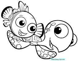Finding Nemo Coloring Pages Sketch Page