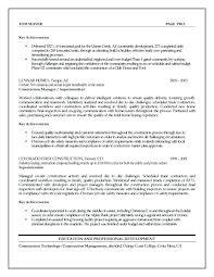 Sample Job Description Project Manager Construction Free