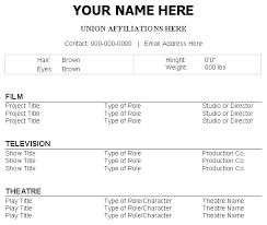 Acting Resume Sample Example Beginners Actor Uzbq Digimerge Net Perfect