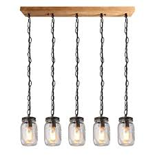 Kitchen Island Ls Buy Baoden 5 Lights Kitchen Island Light Fixture Wooden