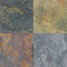 Multi Classic Solid Gauged Finish Slate Flooring Tile