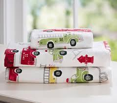 100 Fire Truck Bedding Truck Flannel Sheet Set Pottery Barn Kids Ideas