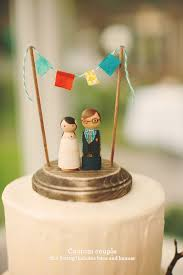 Custom HandPainted Rustic Wedding Cake Topper And Decoration Piece