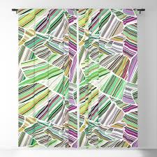 100 Birdview Green Blackout Curtain By Camcreative