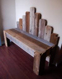 Reclaimed Wood Bench Charming Rustic Furniture Country Home Photo