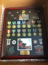 16 X 20 Cherry Shadowbox Medal Display Frame