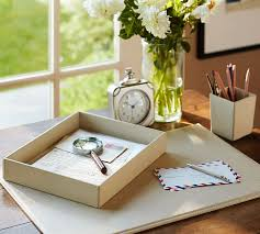 Pottery Barn Office Desk Accessories by Pebble Leather Desk Blotter Pottery Barn