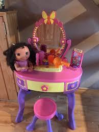 table comely how to make a barbie makeup table mugeek vidalondon