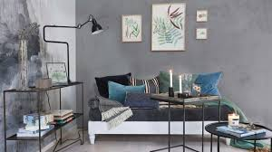 wandgestaltung wohnzimmer in verschiedenen grautönen otto