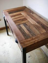 Beautiful Pallet Desk With A Unique Pattern And Stained To Bring Out The Different Textures