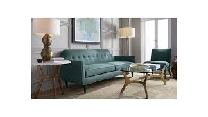 Crate And Barrel Dining Room Chairs by Gia Modern Blue Tufted Sofa Crate And Barrel