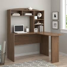 Ameriwood Computer Desk With Shelves by Ameriwood Home Sutton Saint Walnut L Desk With Hutch Free