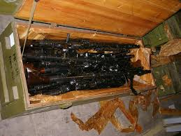 Russian Warehouse Find Crates Of Machine Guns
