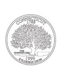 Connecticut State Quarter Coloring Page