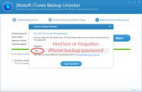 How to Find Lost Forgotten iPhone Backup Password