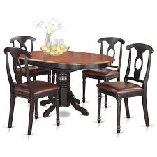 Shop 5-piece Oval Dining Table And 4 Dining Chairs - Free Shipping ... Live Edge Acacia Wood Iron 106 Ding Table W 5 Chairs Bench Signature Design By Ashley Charrell Piece Round Set Hooker Fniture Archivist With Pedestal Shop Picasso Pc Kitchen Table Set Leaf And 4 Plainville Settable Vintage Joanna Vintagrpjoannatbl5 Leg Side Detail Feedback Questions About Goplus Pcs Black Room Boconcept Granada Extendable Aptdeco Coaster Barzini Leatherette Mix Match 150041 Counter Height Dunk Costway Metal Canterbury Extension Noa Nani