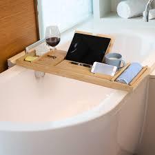 details zu tablett serviertablett frühstück betttablett badewanne laptoptisch bambus holz