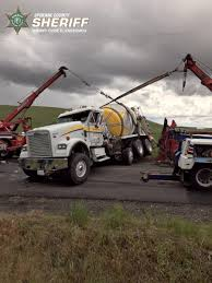 100 Pictures Of Tow Trucks Flipped Cement Truck Creates Problems For Tow Trucks The Spokesman