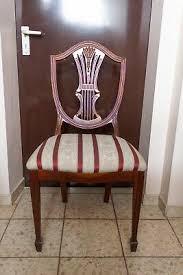 6 esszimmer stühle federal englischer stil antik