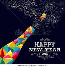 Happy New Year 2015 Greeting Card Stock Vector