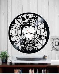 Nightmare Before Christmas Bedroom Design by Vinyl Record Clock Wall Nightmare Before Christmas