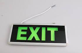 led light design captivating led exit lights green exit lights