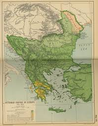 Map of the Ottoman Empire in Europe 1792