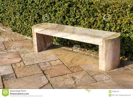 modern stone marble garden bench royalty free stock photos image