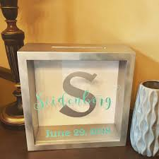 Last Name Personalized Wedding Card Box