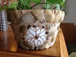 Handmade Mosaic Flower Pot Large Planter Kitchen Outdoor Rustic Patio Garden