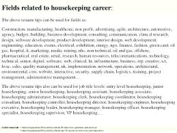 Housekeeper Resume Sample Hotel Housekeeping Samples Supervisor Cv
