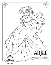 Disney Princess Ariel Coloring Pages To Print