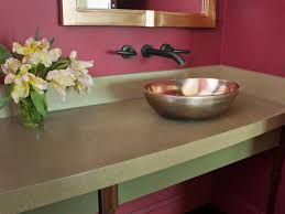 Concrete Bathroom Countertop Options | HGTV Bathroom Countertop Ideas Diy Counter Top Makeover For A Inexpensive Price How To Make Your Cheap Sasayukicom Luxury Marvelous Vibrant Idea Kitchen Marble Countertops Tile That Looks Like Nice For Home Remodel With Soapstone Countertop Cabinet Welcome Perfect Best Vanity Tops With Beige Floors Backsplash Floor Pai Cabinets Dark Grey Shaker Organization Designs Regarding Modern Decor By Coppercreekgroup