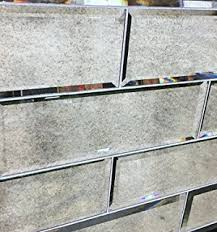 beveled mirror glass subway tile sle swatch home